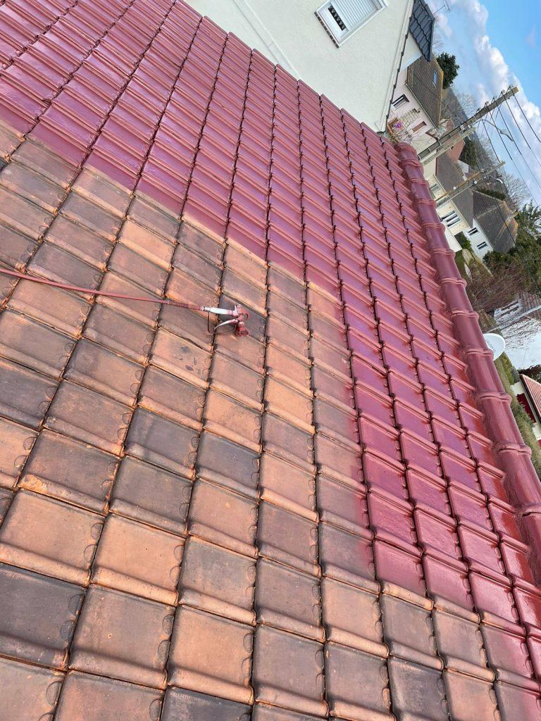 peinture sur toit